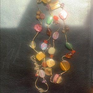 Lia Sophia long colorful necklace